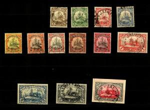 Marschall-Inseln: MiNr. 13-25, gestempelt, einzelne Marken mit Alt-Signaturen