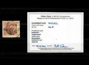 Thurn & Taxis: MiNr. 18, Briefstück, BPP Befund