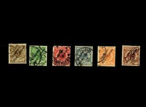 Deutsch-Neuguinea: MiNr. 1-6, gestempelt, teils BPP Signatur