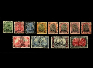 Dt. Post Türkei: MiNr. 12-23I, gestempelt, 1x BPP Signatur