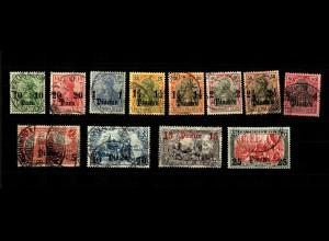 Dt. Post Türkei: MiNr. 24-35, gestempelt