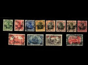 Dt. Post Türkei: MiNr. 36-47, gestempelt