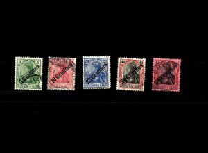 Dt. Post Türkei: MiNr. 48-52, gestempelt