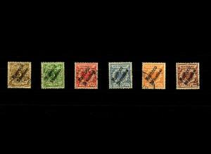 Dt. Post Marokko: MiNr. 1-6, gestempelt, teils Alt-Signaturen