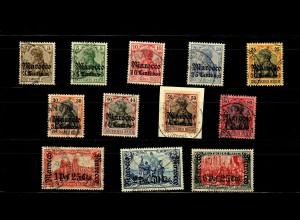 Dt. Post Marokko: MiNr. 34-45, gestempelt