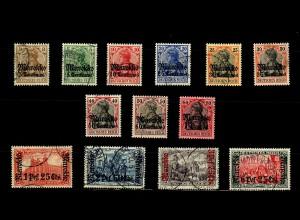 Dt. Post Marokko: MiNr. 46-59, gestempelt
