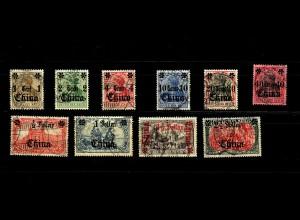 Dt. Post China: MiNr. 38-47, gestempelt, Alt-Signaturen