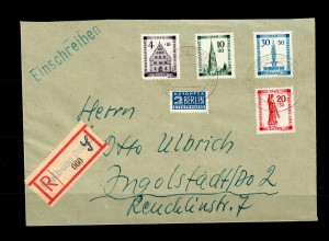 Baden: Einschreiben Freiburg 1949, MiNr. 38-41A nach Ingolstadt