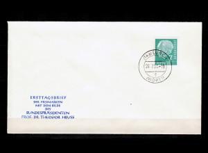 FDC Freimarke Bundespräsident Heuss, MiNr. 199