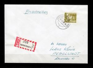 Berlin: MiNr. 123 als Einschreiben Ingolstadt mit Letztagstempelung 31.12.1958