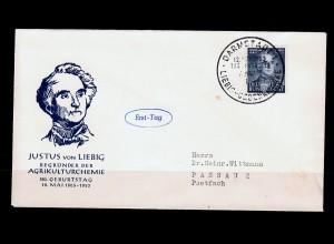 Bund: MiNr. 163,165,166, 3x FDC 1953