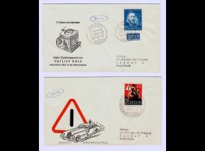 Bund: MiNr. 161-162, FDC, Philipp Reis, Verkehrsunfälle