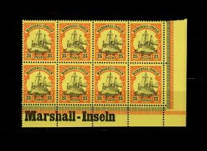 Marschall-Inseln: MiNr. 17, 8er Block mit Inschrift vom Eckrand, postfrisch, **