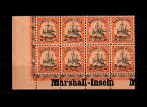 Marschall-Inseln: MiNr. 18, 8er Block links Inschrift Eckrand, postfrisch **