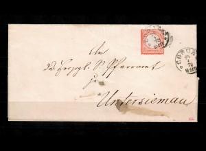 DR: MiNr. 8 auf Brief von Coburg nach Untersiemau 1872