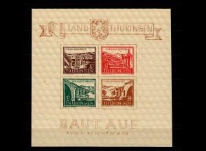 SBZ: Thüringen MiNr. Block 4 ay I/I, postfrisch, **, BPP Attest