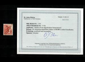 SBZ: MiNr. 179 I, postfrisch, ** mit Aufdruck 3 Berlin, BPP Befund