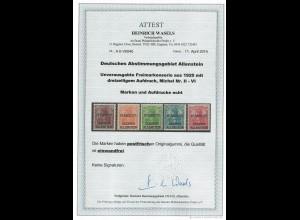 Allenstein MiNr. II-VI, **, postfrisch, BPP Attest