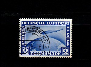 DR: MiNr. 497, gestempelt Braunschweig, Chicagofahrt, BPP Signatur