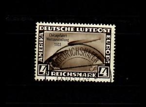 DR: MiNr. 498, gestempelt Friedrichshafen, Chicagofahrt, BPP Signatur