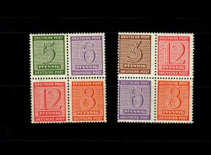 SBZ: MiNr. HZ 10-11, Viererblöcke, postfrisch, **