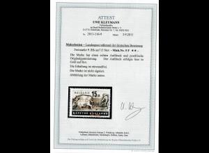 Makedonien MiNr. 5 F, goldene Aufdruckfarbe, **, postfrisch, BPP Attest