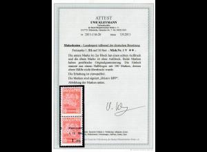 Makedonien MiNr. 1 V, mit/ohne Aufdruck, **, postfrisch, BPP Attest