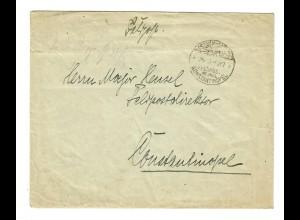 1917: Konstantinopel MIL. MISS, 3. Türkische Armee vom Generalstabschef