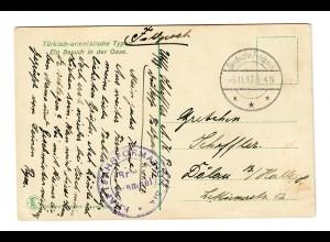 Frühe FP: 5.11.1917, AK Besuch in der Oase, Kraftfahrerformation nach Döhlau