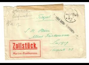 """1917: KDMSP No 14, Brief von Tewfik nach Leipzig; """"Sendet keine Nahrungsmittel"""""""