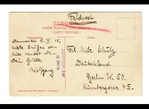 1915: FP Ansichtskarte Baalbeck, Auswärtiges Amt in Berlin nach Berlin