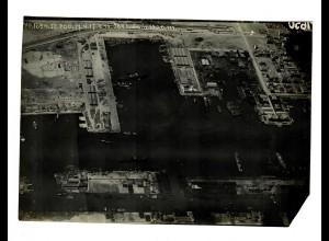 1917: großes Foto (144x123mm) von Port Said am 17.4.1917