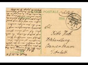 1918 KDMSP AK Constantinopel nach Oranienbaum, siehe Beschreibung