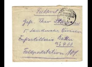 1916 KDMSP No 14, General auf Feldpostbrief, siehe Beschreibung