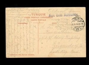 1916: AK Damaskus, Expedition Pascha, Aus dem Auslande nach Neugersdorf