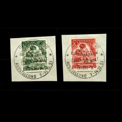 Berlin: MiNr. 80-81, gestempelt, Luxus, Briefmarken Ausstellung 1951