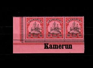 Kamerun: MiNr. 15, Eckrand mit Inschrift, postfrisch, **