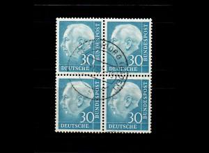 Bund: Heuss MiNr. 187, gestempelt Offenburg 1957