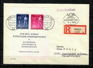 Berlin 1955, FDC als Einschreiben von Berlin nach Ingolstadt