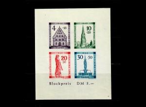 Baden 1949: MiNr. Block, 1 B V, postfrisch, **