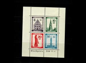 Baden 1949: MiNr. Block, 1 A I, postfrisch, **