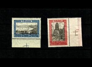 Danzig: MiNr. 209-210, **, postfrisch mit Platten-Nummer