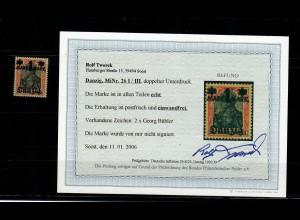 Danzig: MiNr. 26 I/III, doppelter Unterdruck, postfrisch **, BPP Befund