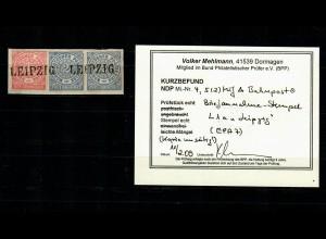 NDP: MiNr. 4, 5 auf Briefstück, gestempelt Leipzig, BPP Befund