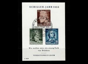 DDR: MiNr. Block 12 XI Plattenfehler IX, gestempelt Ersttag 1955, VPP Befund