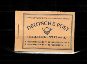 Markenheftchen Berlin: MH2, postfrisch, **
