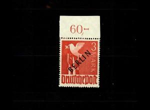 Berlin: MiNr. 19 P ndgz Oberrand, postfrisch, **, geprüft