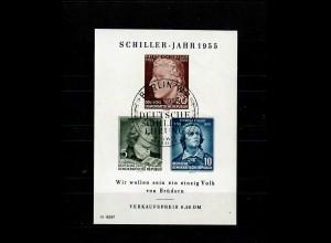 DDR: MiNr. Block 12 XI Plattenfehler IX gestempelt, VPP Befund, Ersttag
