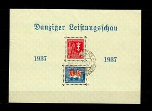 Danzig: Block 3 I, gestempelt 1937, Danziger Leistungsschau