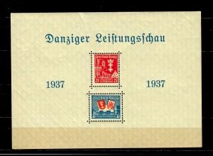 Danzig: Block 3 I, postfrisch, 1937, Danziger Leistungsschau
